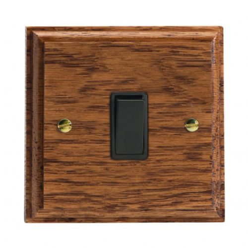 Varilight XK7MOB Kilnwood Medium Oak 1 Gang 10A Intermediate Rocker Light Switch